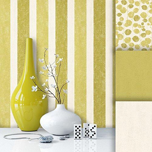 tapete edel vlies gr n creme streifen sch nes floral design und purer luxus effekt moderne. Black Bedroom Furniture Sets. Home Design Ideas