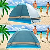 e-Joy® Outdoor Automatic Pop up Instant Portable Cabana Beach Tent 2-3 Person Camping Fishing Hiking Picnic Anti UV Beach Tent Beach Shelter, Sets up in Seconds (Blue)