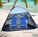 Pop-up Family Beach Tent and Sun Shelter UPF 100+ Cool Grey