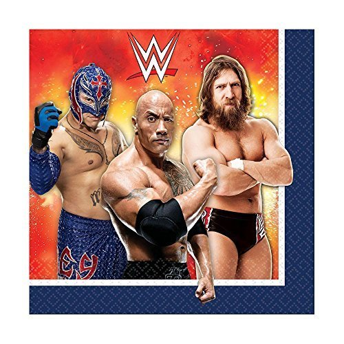 WWE Party Lunch Napkin 16 Ct [5 Retail Unit(s) Pack] - 511467 - 1