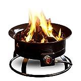Outland Firebowl 823 Outdoor Portable Propane Gas Fire Pit, 19-Inch Diameter 58,000 BTU Smokeless for Camping RV Backyard Deck Patio