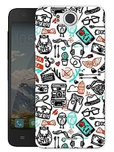 "Hand Drawn Doodle Art Print Printed Designer Mobile Back Cover For ""Google Infocus M530"" By Humor Gang (3D, Matte Finish, Premium Quality, Protective Snap On Slim Hard Phone Case, Multi Color)"
