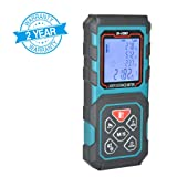 MAKINGTEC Laser Measure 328Ft M/In/Ft Laser Distance Meter,5 Measurement Modes, Pythagorean Mode ,LCD Backlight Display, Volume , Area Measurement, Digital Laser Tape Measure D100 Color Blue … … (Tamaño: 100m/328ft)