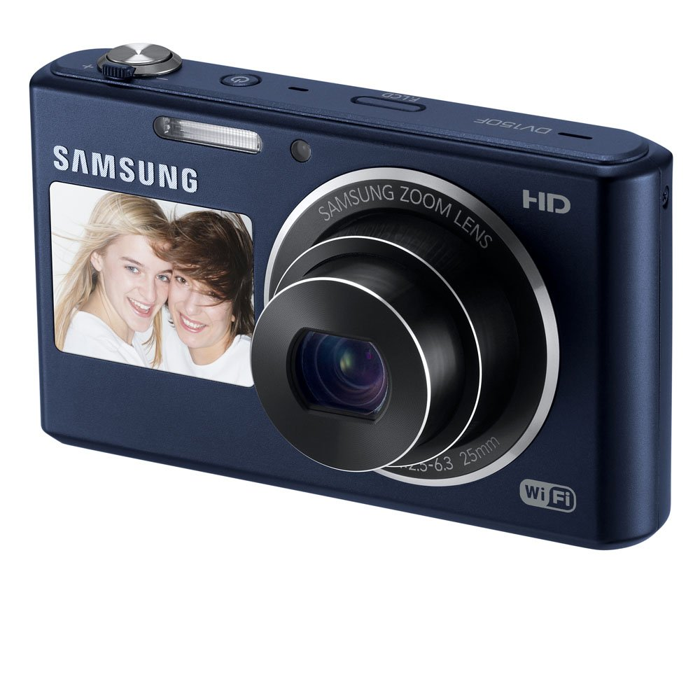 Samsung DV150F 16.2MP Smart WiFi  Digital Camera with 5x Optical Zoom and 2.7″ front and 1.5″ rear Dual LCD Screens ($74.99)