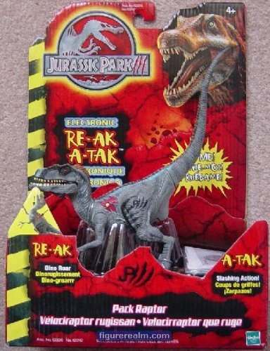 Picture of Hasbro Pack Raptor from Jurassic Park III Electronic RE-AK A-TAK Action Figure (B0013P3VBG) (Hasbro Action Figures)