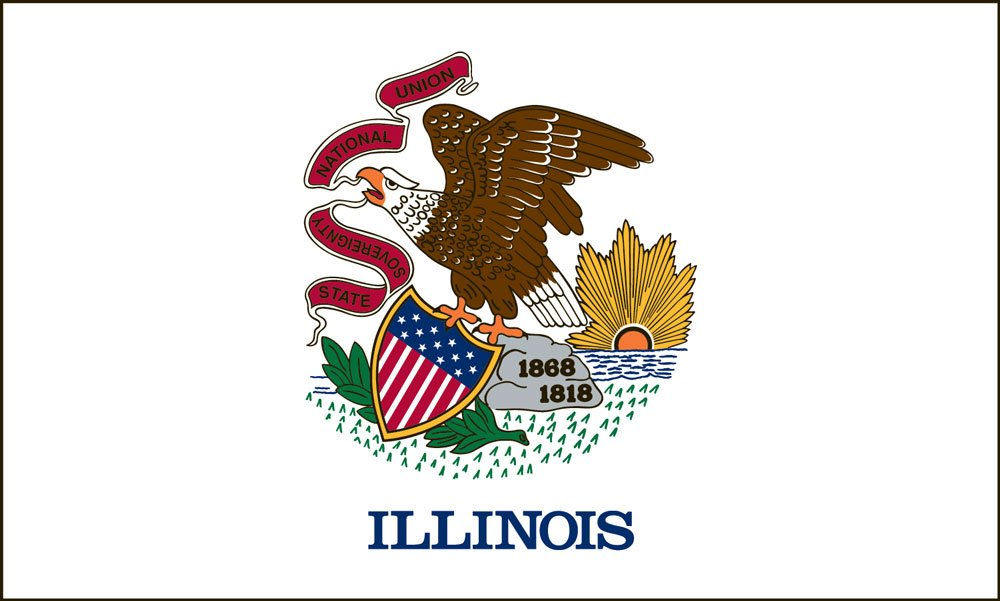 Illinois State Flag Coloring Pages