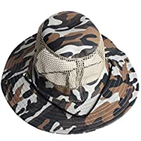 Outdoor Cotton Mesh Sunshade Camping Fishing Hiking Polyester Bucket Hat Cap