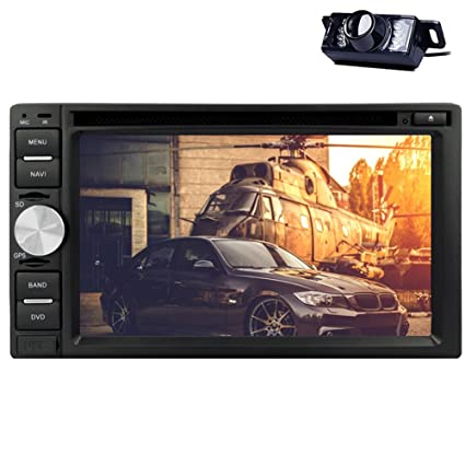 DVD Double Din 2 pulgadas 6.2 LCD de coches CD VCD Transmisor Radio EstšŠreo Bluetooth coches reproductor SD FM USB MP4 AM cubierta MP3 En unidad principale Cubierta Con AUX Cš¢mara trasera Logo RDS multimšŠdia USB