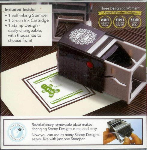 Green Gingerbread Man Self Inking Holiday Stamp