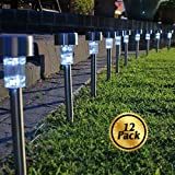Solar Pathway lights [12 Pack], Koolife [Stainless Steel] Led Path Landscape Lights for Outdoor Garden Décor Lighting- Easy Installation- Weather and Water Resistant - Best Reviews Guide