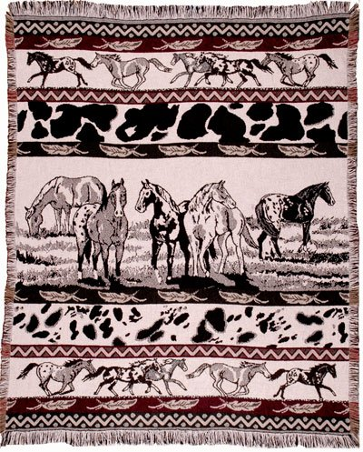 Horse Throw Blanket front-589235