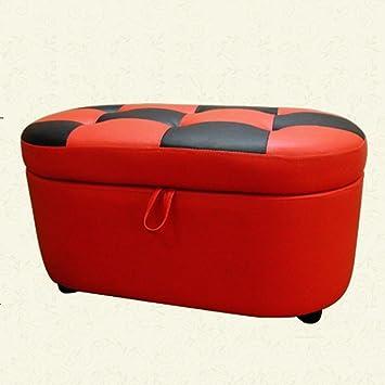 Semplice stoccaggio Sgabello Fashion For scarpe sgabello creativo di prova doppio scarpe sgabello Shoe Store bagagli Divano Sgabello Sgabello bagagli (Red) (83 ** 43 * 40cm) Può sedersi sullo sgabello