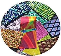 Assorted Dichroic on BLACK & Clear Glass Pieces - 90 coe - 4oz, Made in America