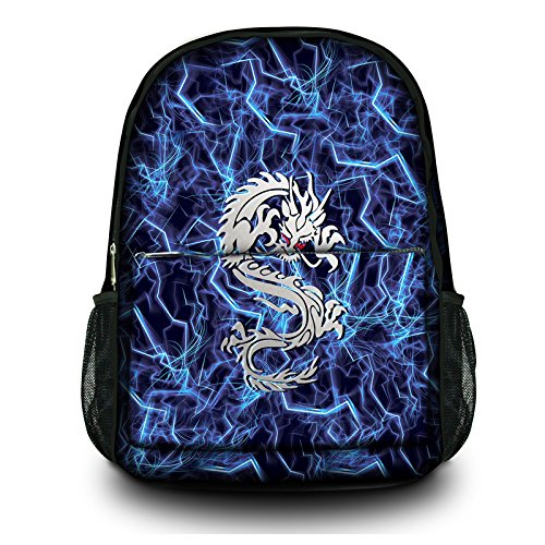 Back to School,Classic Ultra-functional School Backpack Daypack_Lightning Dragon