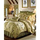 Croscill Iris Jacquard 4 Piece Queen Comforter Set