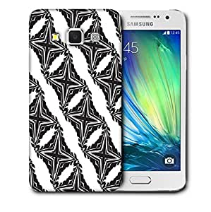 Snoogg Grey Stars Printed Protective Phone Back Case Cover For Samsung Galaxy A3