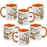 HomeSoGood Coffee Any Time Coffee Mugs (6 Mugs)