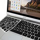 "GMYLE Black Silicon Keyboard Cover for Acer 11.6"" Chromebook C720 C720P C740 GMYLE Black Silicon Keyboard Cover for Acer 11.6"" Chromebook C720 C720P C740 (US Layout)"