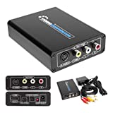 HDMI to S Video Composite 3RCA AV Converter AV RCA CVBS/L/R Video Audio Converter Adapter PAL / NTSC CVBS Converter Adapter Support 1080P Support DVD PS2 PS3 Xbox HDTV (Color: HDMI to S-video Converter)