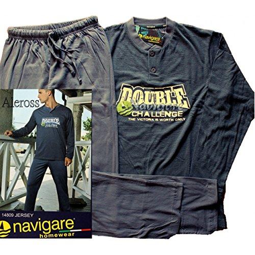 Pigiama Uomo Navigare cotone jersey disponibile 46-48-50-52 S-M-L-XL Jeans 14809