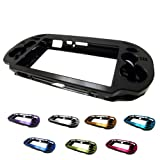 PlayStation PS VITA 1000 Case Cover Aluminum Brushed Metal Plated Plastic + Free Screen Protector (1st Generation, PCH-100x Version) BLACK (Color: BLACK, Tamaño: PS VITA 1ST GEN)