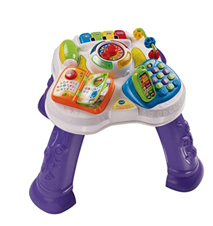 Vtech – Play & Learn Activity Table – Ma Table d'Eveil Parlante 2 en 1 Version Anglaise (Import UK)