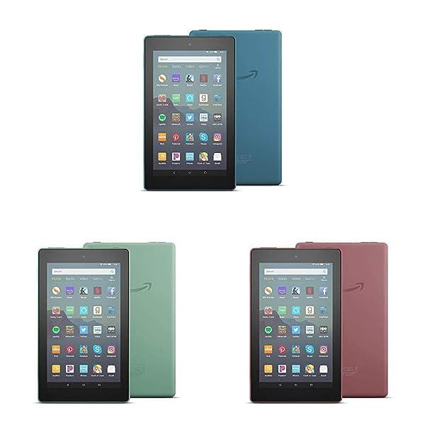 All-New Fire 7 Tablet 3-pack (7 display, 16 GB) - Blue/Plum/Sage (Color: Blue/Plum/Sage)