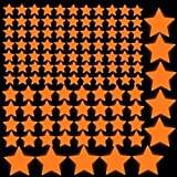 Orange Glow in the Dark Wall Luminous Stickers Star Decal Adesivo De Parede Decor Home Decoration for Kids Rooms Decals Sticker