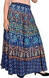 Exotic India - Falda - para mujer Azul azul (Twilight Blue)