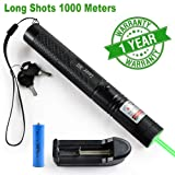TOPNEW Green Light Pointer High Power Visual Beam Focusing Adventure Travel Astronomy Hobby Teaching Pointer Sand Table Demonstration Projector Pointer Construction Guidance Pet Toy