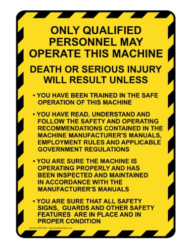 Compliancesigns Aluminum Truck Safety Sign, 10 X 7 In. With English Text, White front-138246