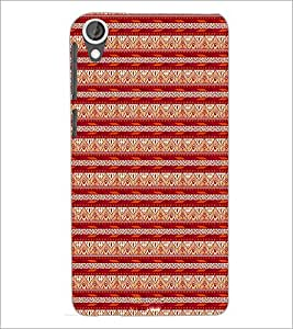 PrintDhaba Tribal pattern D-1984 Back Case Cover for HTC DESIRE 820 (Multi-Coloured)