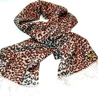 100% Cashmere Scarf --80 Rich Colors! Super Soft (Animal Print Gray/black)