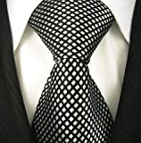 Neckties By Scott Allan - Black and Silver Neckties (Diamond)