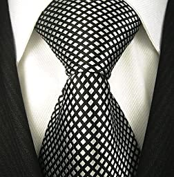 Neckties By Scott Allan - Black and Silver Neckties (Diamond)