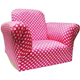 Child\'s Rocking Chair, Hot Pink Dot