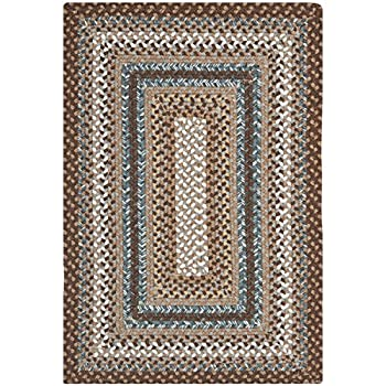 Safavieh Braided Collection BRD313A Hand Woven Brown and Multi Area Rug (2 x 3)