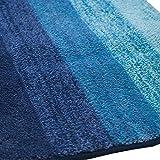 Arie(アーリエ) 吸水バスマット グラデーション 60×90cm ブルー