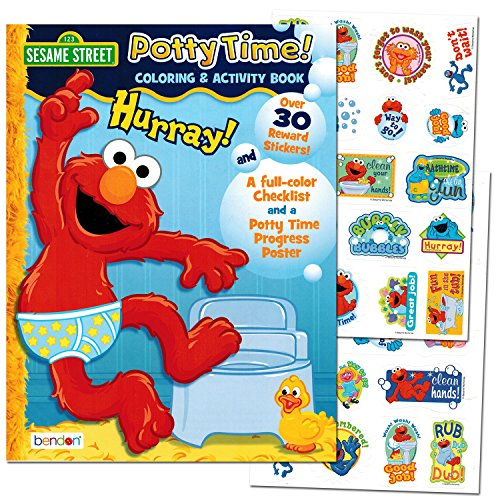 "Sesame Street ""Potty Time"" Potty Training Coloring and Activity Set - With Progress Chart and Reward Stickers"