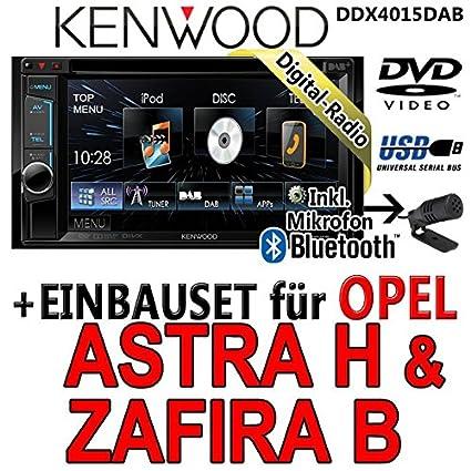 Opel astra h, zafira b argent-kenwood dDX4015DAB 2DIN multimédia cD/uSB avec kit de montage