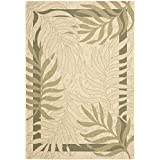 """Safavieh Courtyard Collection CY7836-14A5 Cream and Green Area Rug, 4 feet by 5 feet 7 inches (4' x 5'7"""")"""