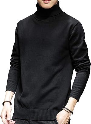 SUN BROSE(サン ブローゼ) メンズ タートルネック セーター 長袖 ニット コットン 素材