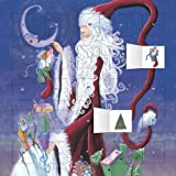 Santa and the Moon advent calendar (with stickers) (Flame Tree Publishing)