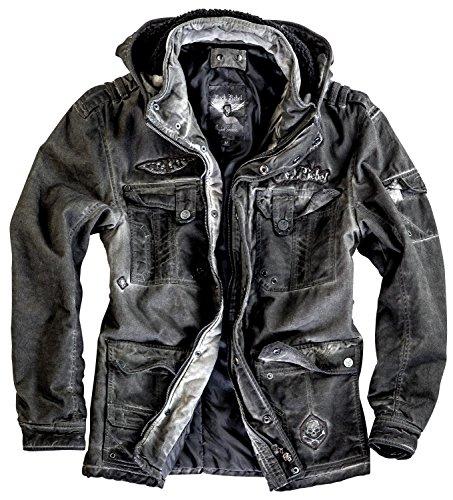 Rock Rebel by EMP Used Skull Jacket Giacca grigio S