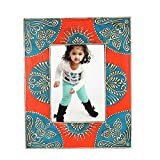 Home And Bazaar Ethnic Rajasthani Handpainted Photo Frame - Multicolor