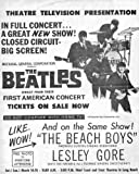 THE BEATLES 1ST AMERICAN CONCERT 1964 REPRODUCTION CONCERT POSTER 16X12