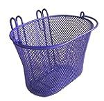 Basket with hooks PURPLE, Front , Rem...