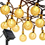Solar String Lights,Maan 19.7ft 30 LED Crystal Ball Waterproof Outdoor String Lights Solar Powered Globe Fairy...