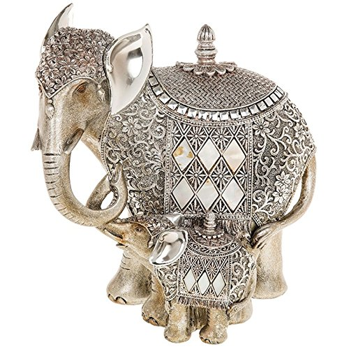 shudehill-silver-pearl-elephant-and-baby-ornament
