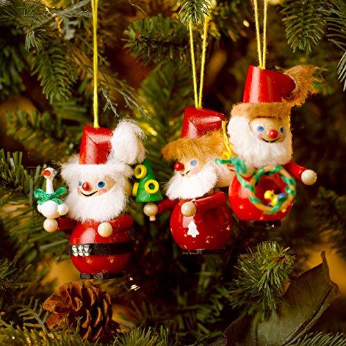Kurt Adler Steinbach 12 Days of Christmas Ornament, Days 3, 7, and 11, Set of 3